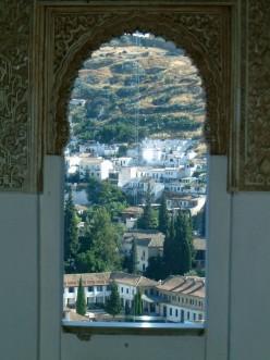A view of Granada (el Albaicn) from The Alhambra,perhaps from Irving's chambers?...by rummyribka(photobucket)