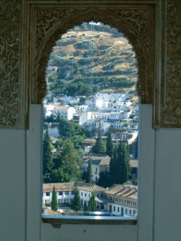 A view of Granada (el Albaicn) from The Alhambra,perhaps from Irving's chambers?...by rummyribka(photobucket)