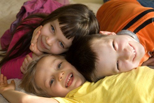 Happy children are no accident. They usually have a loving and attentive mother.