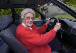 Some older people can still drive their own cars.