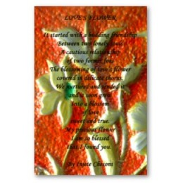 Love's Flower Art and Poetry Poster by Injete