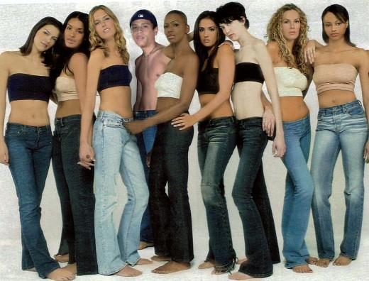 You can find yourself in a group of super models...