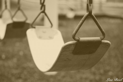 A lonely little swing,just waiting for summer to come back around.
