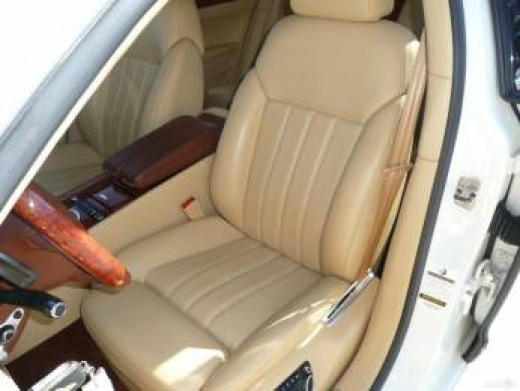 Beautiful Bentley Automobile - soft beige leather car interior