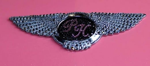 Glitzy Paris Hilton Bentley Logo