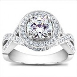 Bold Diamond Engagement Ring