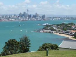 Auckland and its good looking harbour