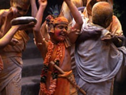 Chuyia dancing during a holiday at the temple