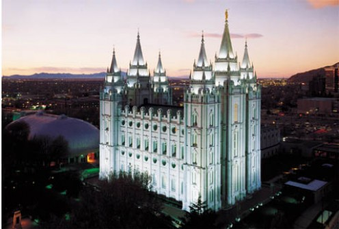 Salt Lake Temple - one of the earliest temples to be built.  This temple took the early saints 40 years to build...