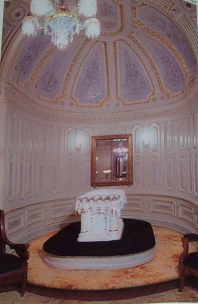 "This is one of a few different ""sealing"" rooms where marriages are performed for time and all eternity... This is the highest ordinance performed in The House of the Lord."