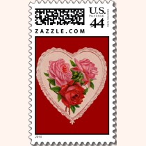 Heart with Roses Postage