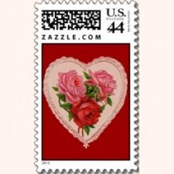 Valentine's Day Vintage Postage Stamps