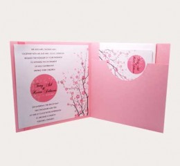 Wedding invitation with enclosures