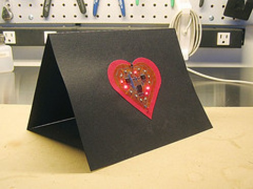 Ultra Modern LED Valentine's Card Inventive and clever