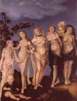 The Seven Ages of Woman, by Hans Baldung Grien  Date 1544