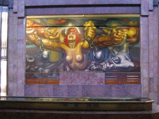 David Alfaro Siquieros, Palacio de Bellas Artes, Mexico City