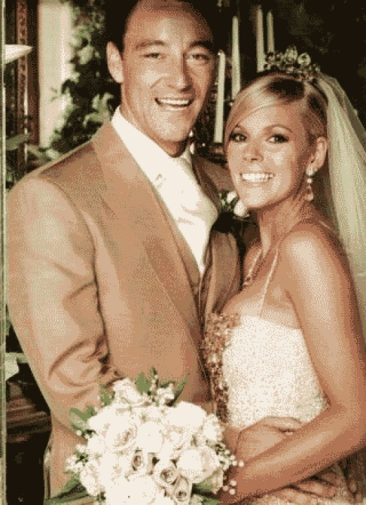 John Terry and Toni Poole on their wedding day