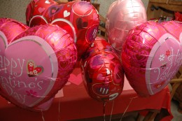 Mylar Balloons I found at the Dollar Store. A BIG bargain!