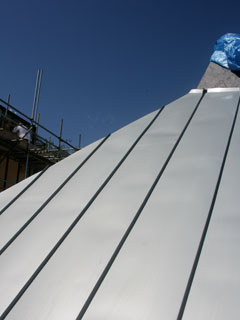 zinc standing seam roof