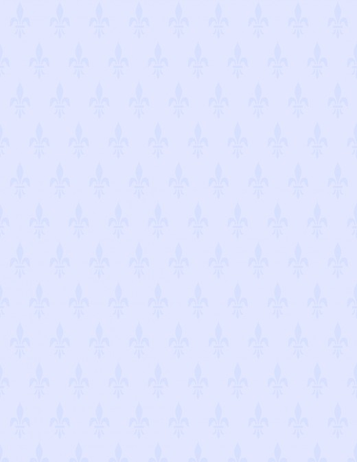 Periwinkle blue fleur de lis scrapbook paper
