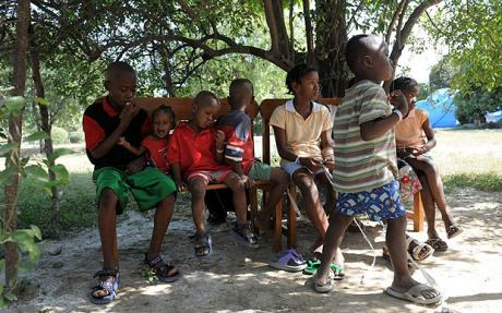 Orphaned Haiti children before the quake http://www.saltspringnews.com/