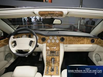 Beautiful Bentley Automobile - glorious interior with polished wood and cream almost white leather trim