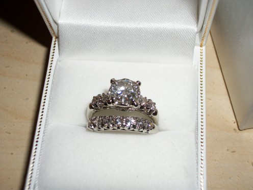 My beautiful vintage engagement ring set.