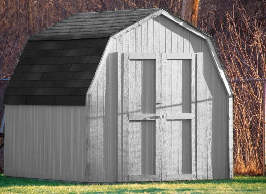 an example of a wood shed.  The wonders of what can be done with shed plans.