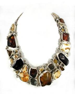 Rough amber nugget necklace from withoutstyle.com