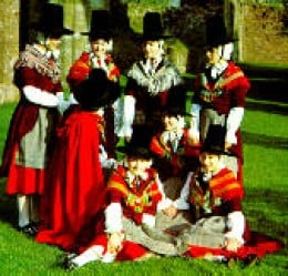 Ladies in Welsh national Dress