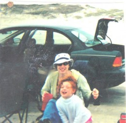 Me & my little girl when we use to have a car (it was a lemon)