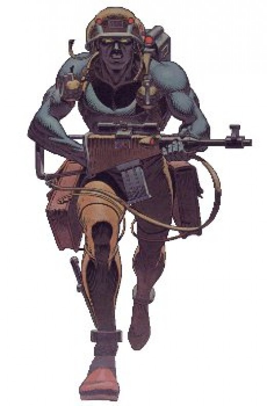 Rogue Trooper, another popular 2000AD icon.