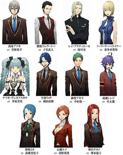 From the upper left: Atsuki, Liu Yi, Raye, Nola, Natsuki, Ryo, Akira, Shinji, Mika, Yui, and Yayoi