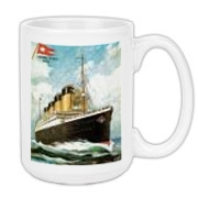 This is a coffee cup with the Titanic image which I have sold numerous of, especially on ties