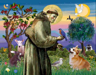 St. Francis of Assisi (Italy, known to bless the animals http://www.insidesocal.com/