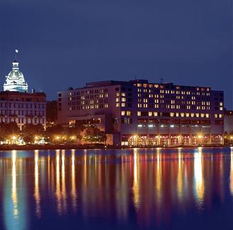 My favorite Savannah hotel - the Savannah Hyatt Regency