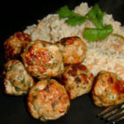 Thai Chicken Balls (from Allrecipes)