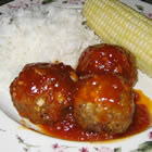 Vegetarian Sweet and Sour Meatballs (from Allrecipes)