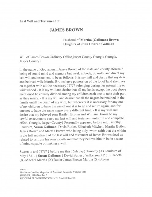 Page 30 WILL of James Brown