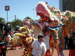 Dragon and Lion Dances : Part of Chinese Festivities and New Year Celebration