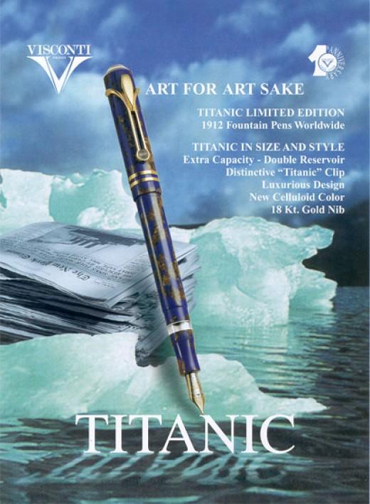 Visconti Titanic Fountain Pen      http://www.airlineintl.com/visconti/viscontiLE_titanic.htm