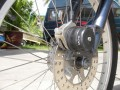 Brakes are Front: Hydraulic disc on Suspension Front Fork
