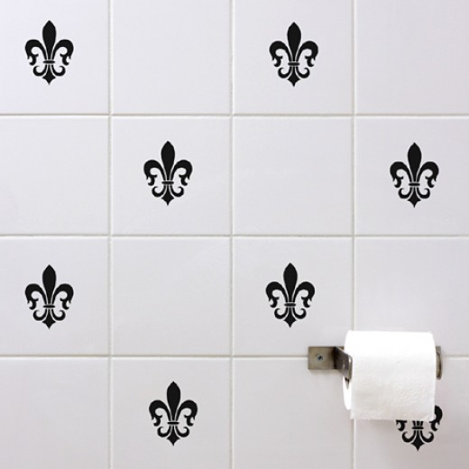 Felur De Lis Tile Wall Sticker