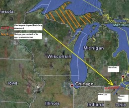 My map showing the lines and regions.  Click on it for a larger look