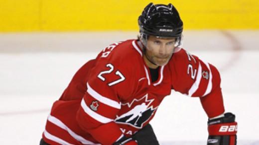 Team Captain,Scott Niedermayer of the Anaheim Ducks