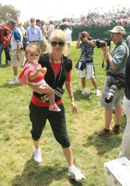 Elin Nordegren Tiger Woods wife and their daughter