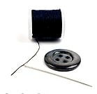 needle thread and button