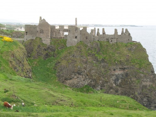 Dunluce Castle Northern Ireland - famed for the cry of the banshee