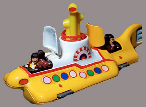 The 1968 Yellow Submarine Corgi model