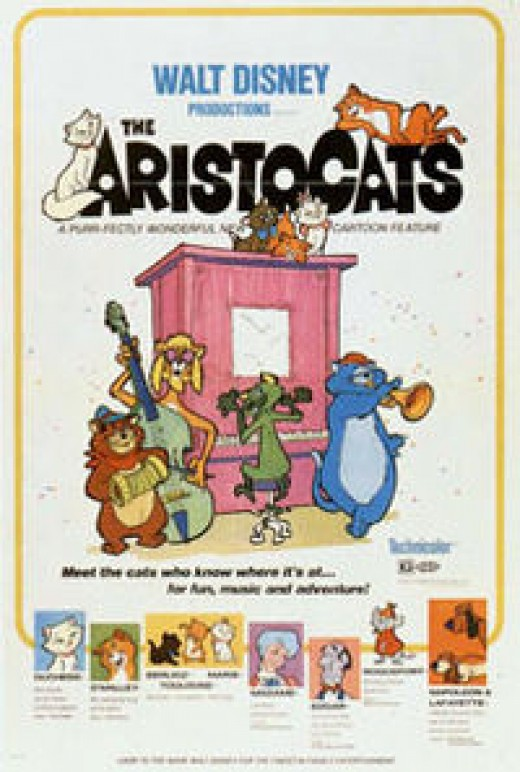 The Aristocats is the first of my best disney movies from the 70s'!